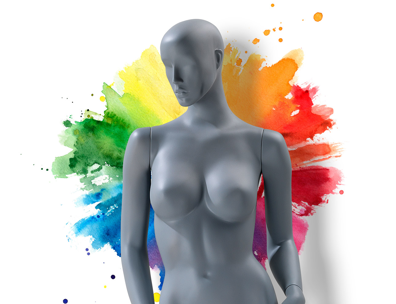 Revitalise your range of mannequins with a new finish in any RAL colour